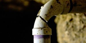 leak detection for a small crack in a pipe
