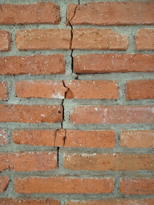 Crack in brick wall